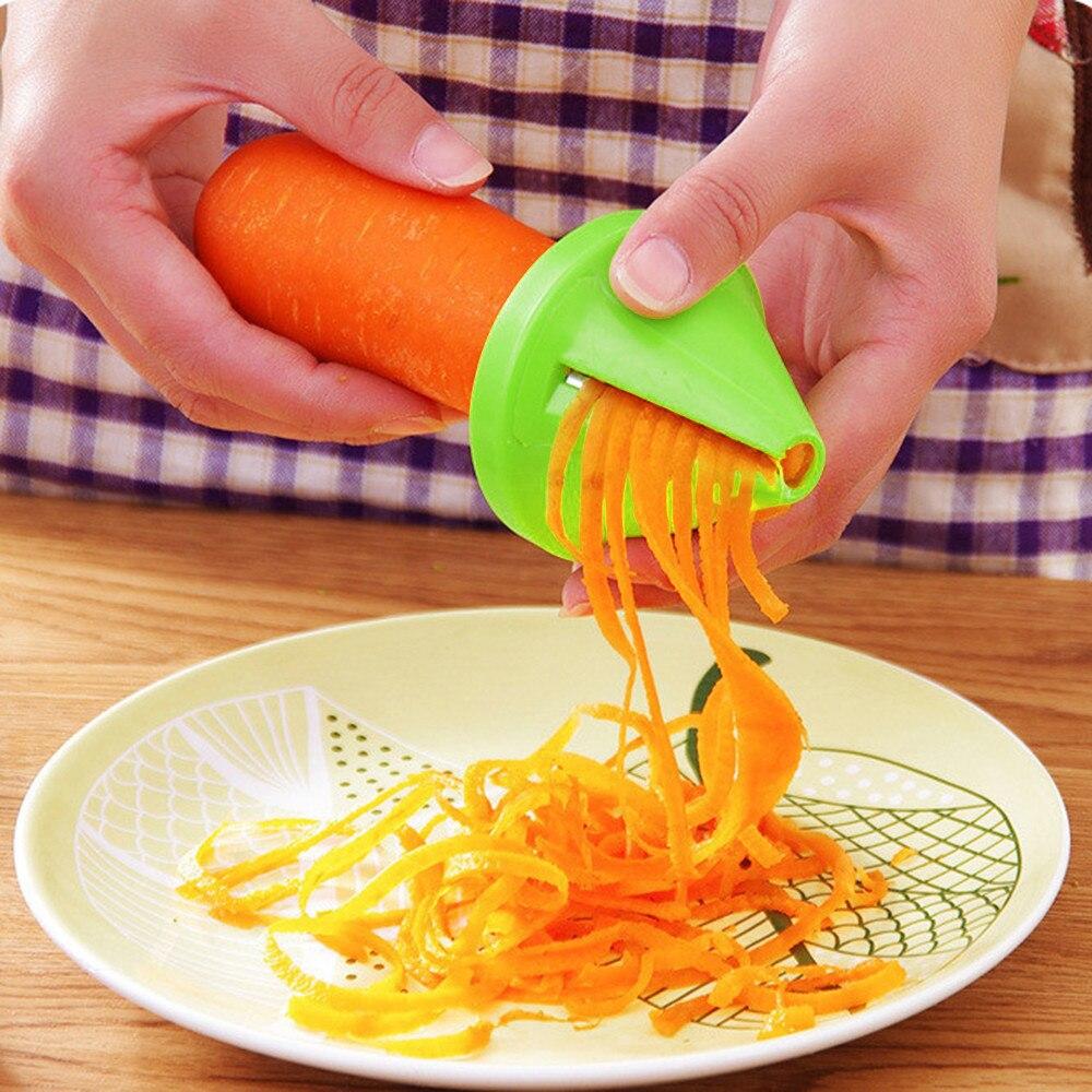 Спиральный измельчитель для овощей, ручной спиральный резак, терка для фруктов, инструменты для приготовления пищи, спагетти, паста, кухонн...