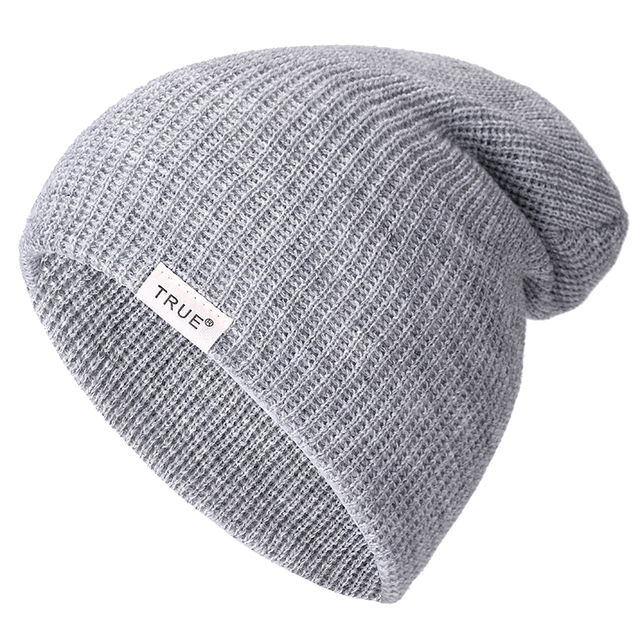 New 11 Colors Letter True Casual Beanies for Men Women Girl Boy Fashion Knitted Winter Hat Solid Hip-hop Skullies Hat Unisex Cap