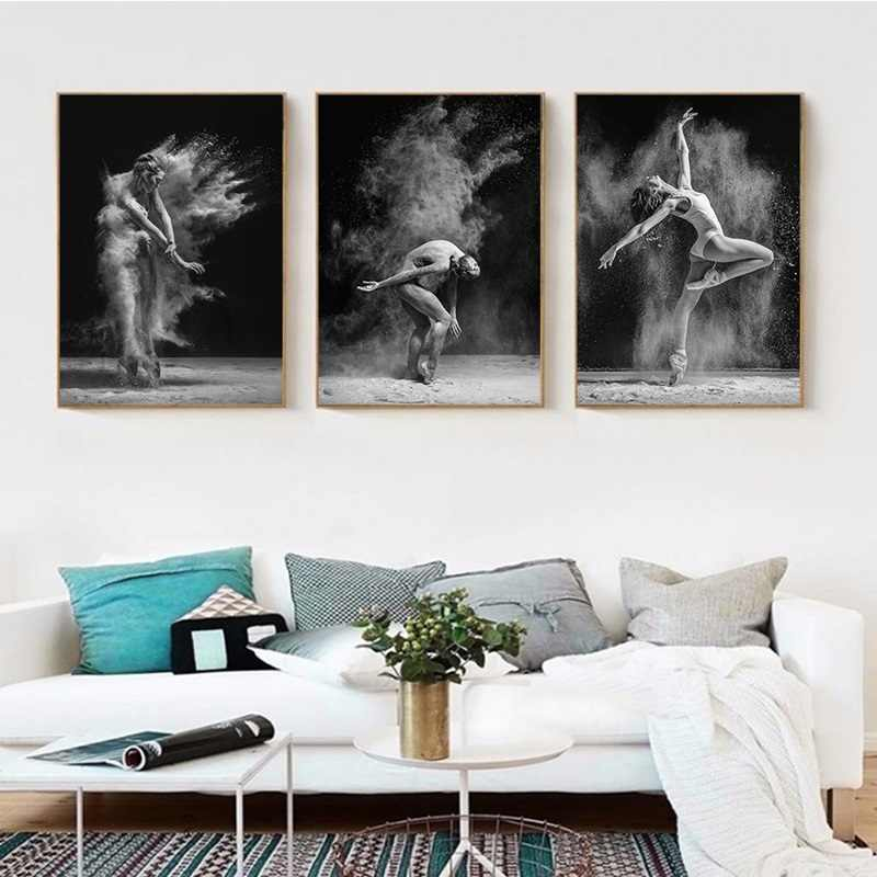 Wall Art Modular Picture Modern Canvas Print White Black Dance Body Home Decoration Painting Nordic Style Poster For Living Room