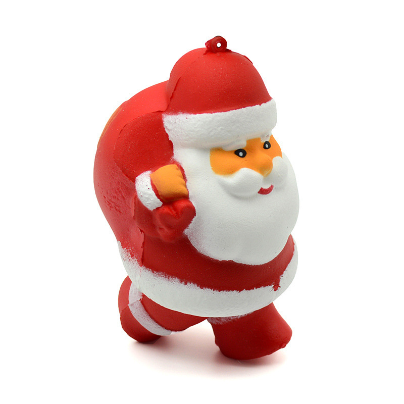 Squishy Slow Springback Santa Squish Antistress Decompression Stres Pendant Toys For Children
