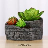 Cement Pot Molds Handmade Clay Planter Silicone Concrete Mold for Office Desk Decoration