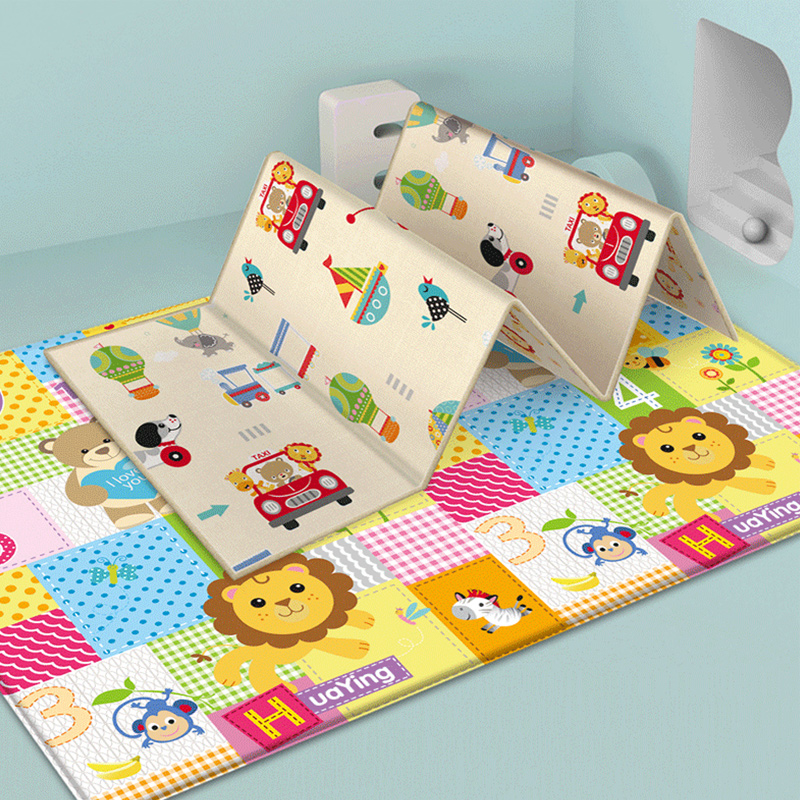 Foldable Children's Mat Toys Cartoon Baby Play Mat Double-sided Baby Climbing Pad Kids Rug Waterproof Baby Games Mat 180*100*1CM