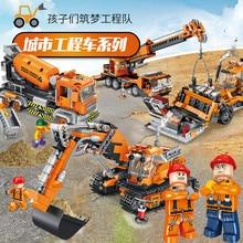Lego Lepins Technic Car Engineering Excavator Crane Building Blocks Assemble Bricks Minifigures City Mech Model Kid Toys For Boy assemble ph35005 1 35 russia 279 engineering nuclear tank blocks kits