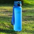 UZSPACE Бутылки для воды 500/1000 мл шейкер герметичный Спорт на открытом воздухе прямой питье моя Бутылка Тритан пластик экологически чистый стак...