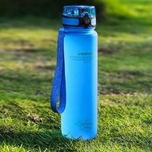 Garrafas de água 500/1000 ml shaker leakproof esporte ao ar livre beber direto minha garrafa tritan plástico eco-amigável drinkware bpa livre