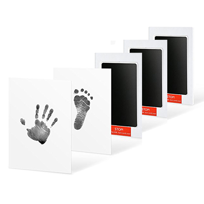 3 Packs Baby Care Non-Toxic Baby Handprint Imprint Kit Baby Souvenirs Casting Newborn Footprint Ink Pad Infant Clay Toy Gifts