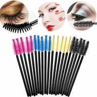 50 pçs pincéis de cílios pincéis de maquiagem escovas de rímel descartáveis varinhas aplicador spoolers cílios de olho ferramentas de maquiagem de escova de cosméticos