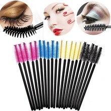 50Pcs Eyelash Brushes Makeup Disposable Mascara Wands Applicator Spoolers Eye Lashes Cosmetic Brush Tools