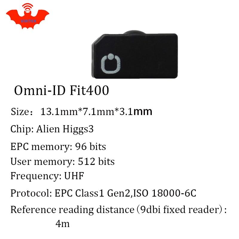 Купить с кэшбэком UHF RFID anti-metal tag omni-ID fit400 fit 400 915mhz 868mhz Alien Higgs3 EPCC1G2 6C durable paint smart card passive RFID tags