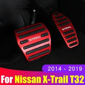 Image 1 - 알루미늄 합금 자동차 발 연료 페달 가속기 브레이크 페달 패드 커버 AT 닛산 X 트레일 X 트레일 T32 2014 2019 액세서리
