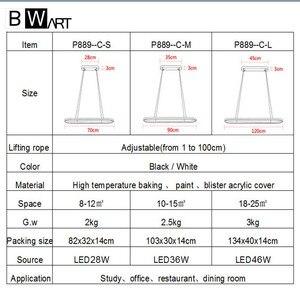 Image 5 - BWART מודרנית אהיל שחור תעשייתי לופט נברשת תליון תליית אור luminaire LED גופי למטבח חדר אוכל מיטת