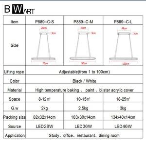 Image 5 - Bwart الحديثة أسود قلادة معلقة ضوء الإنارة الثريا loft الصناعي بقيادة مصباح السرير غرفة الطعام المطبخ