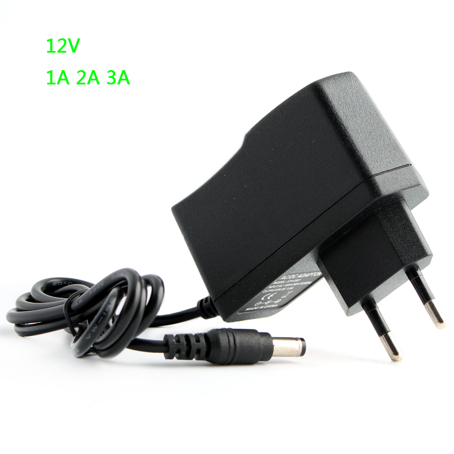 12V Universal Power Supply Adapter 1A 2A 3A US EU Plug in AC to DC Power Adapter For LED Strip Lighting 12V Power Adaptor
