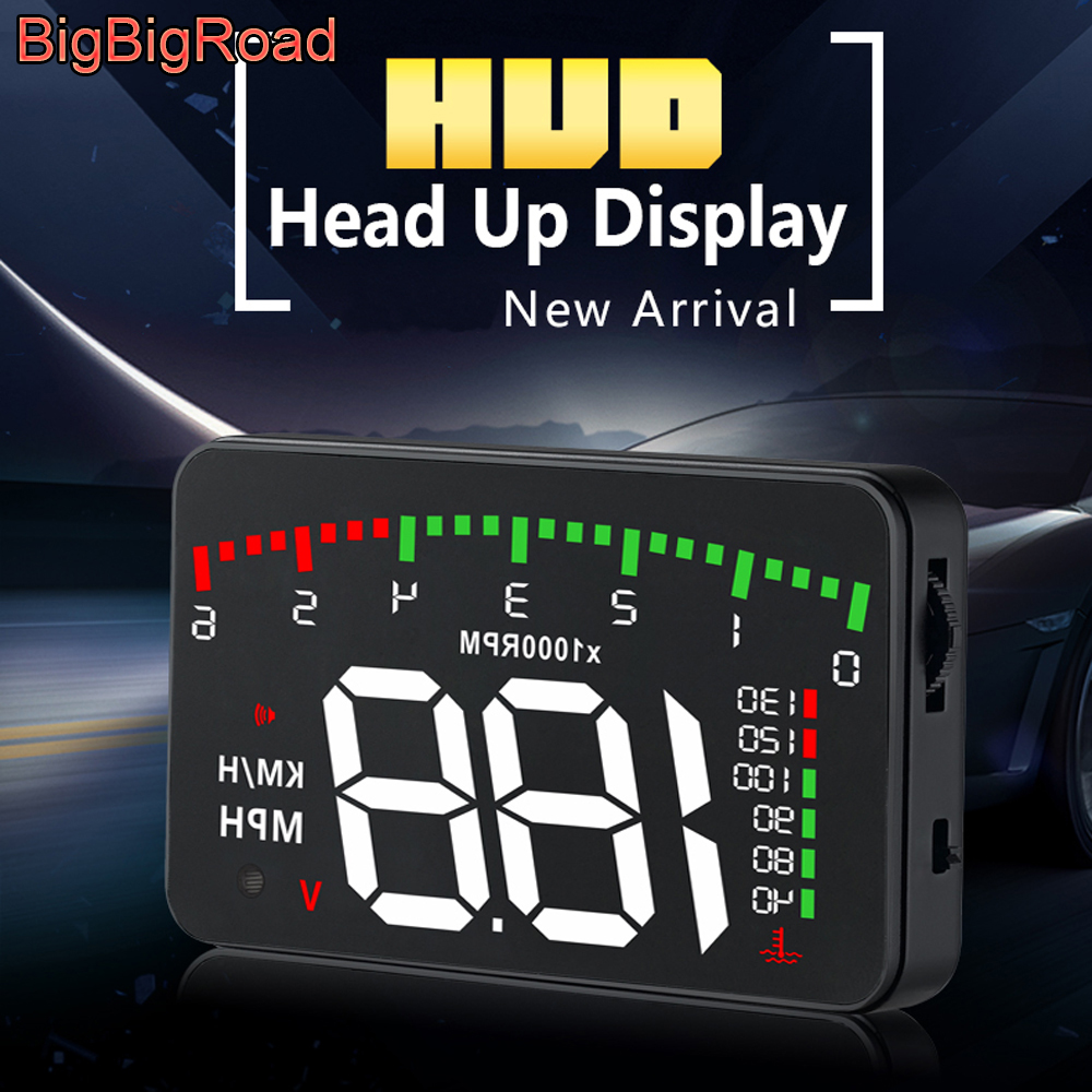 BigBigRoad For Mercedes Benz C Class C207 W205 C180 W204 C200 C230 C260 C300 C43 C63 Car Hud Display Speed Windshield Projector
