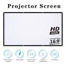 16:9 tela do projetor hd completo cinema em casa 60 / 72 / 84 / 100 / 120 / 150