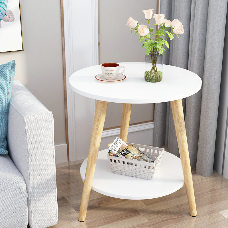 Simple Modern Nordic Mini Coffee Table Living Room Sofa Bedside Coffee Table Corner Small Round Table