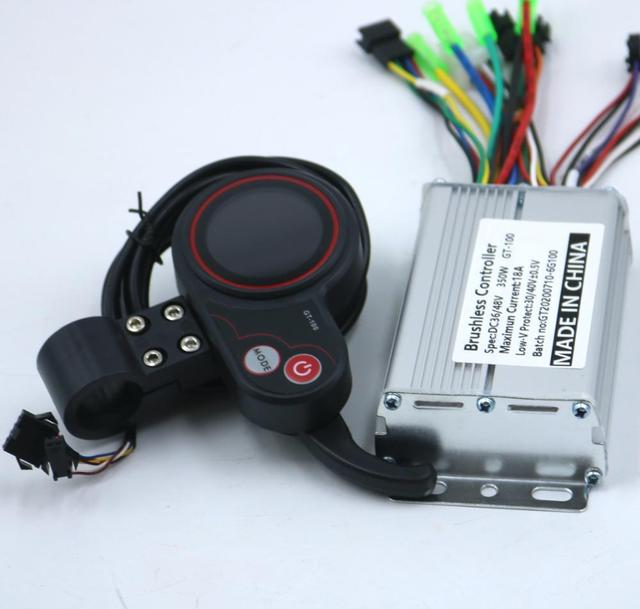 GREENTIME 36V/48V 350W BLDC  Electric scooter controller E bike brushless speed driver and GT 100 LCD Display one set