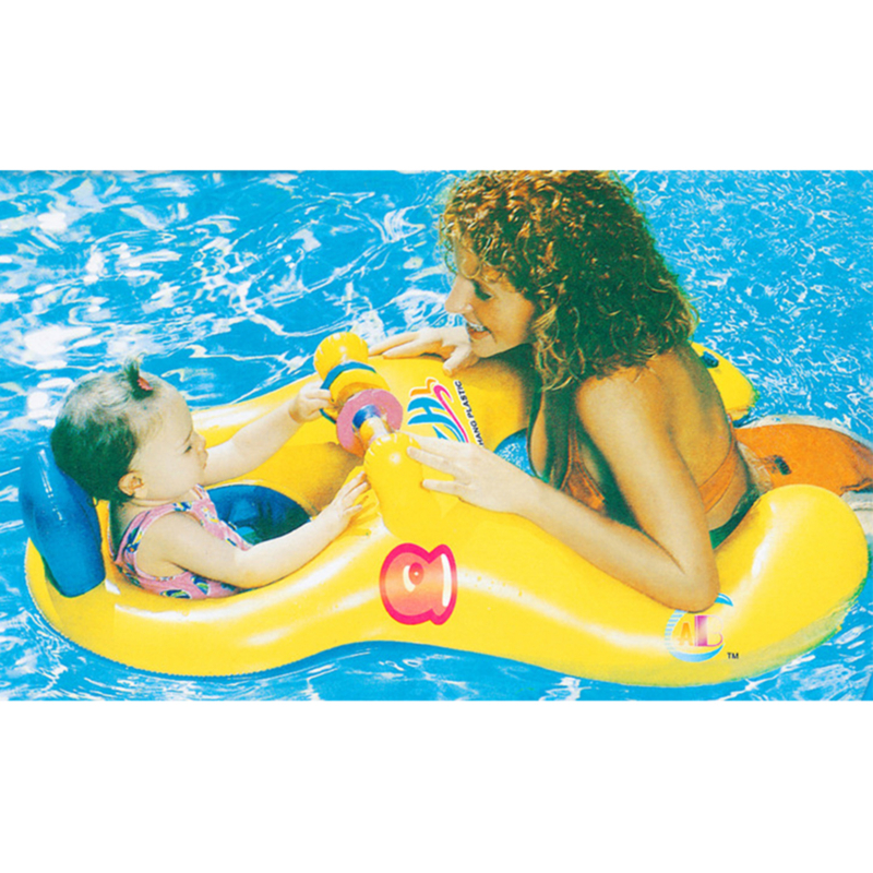Mother Baby Swim Shade Float Circle Ring Kids Seat Parent-child Swimming Pool Accessories Baby Neck Float Inflatable Swim Ring
