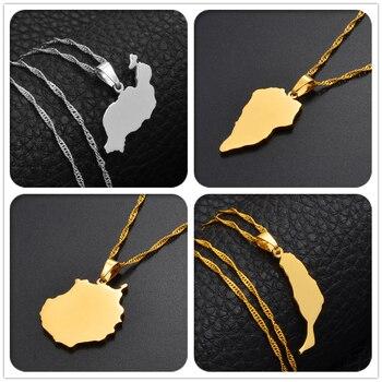 Anniyo Spain Canary Islands Tenerife/Gran Canaria/Fuerteventura/La palma/Lanzarote Pendant Necklaces Women Girl Jewelry #120121