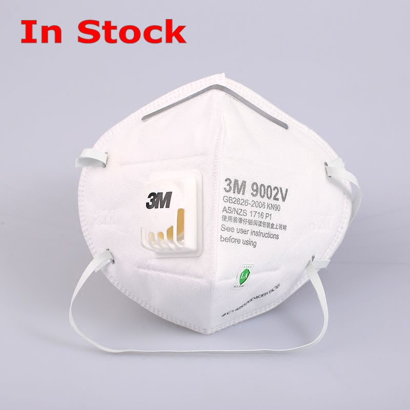 In Stock 3M 9002V Face Mask With Filter Respirator Head Band Anti Virus Dust Bacterial Safety Breathing 3M Mask FFP3 1
