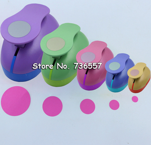 "Image 1 - 5pcs 3"" 2"" 1.5"" 1"" 5/8"" circle shape craft punch Hole Paper Cutter Scrapbooking school Paper Puncher eva hole punch"