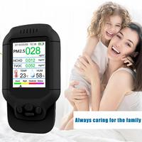 Air Quality Detector With Color LCD Multifunctional Operating System Detector For Indoor Formaldehyde HCHO PM1.0 PM2.5 PM10 TVOC