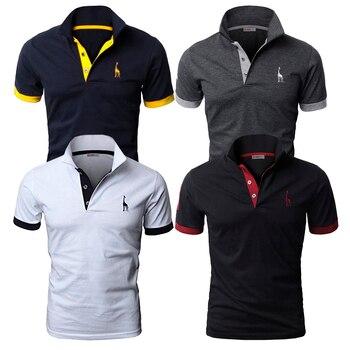 4 pièces ensemble hommes Polo solide décontracté à manches courtes coton Polo chemise hommes mode Slim Fit Polos hommes taille américaine S-3XL
