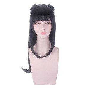 Image 2 - Mo dao zu shi anime jiang yanli cosplay peruca grandmaster do cultivo demoníaco halloween cosplay cabelo sintético