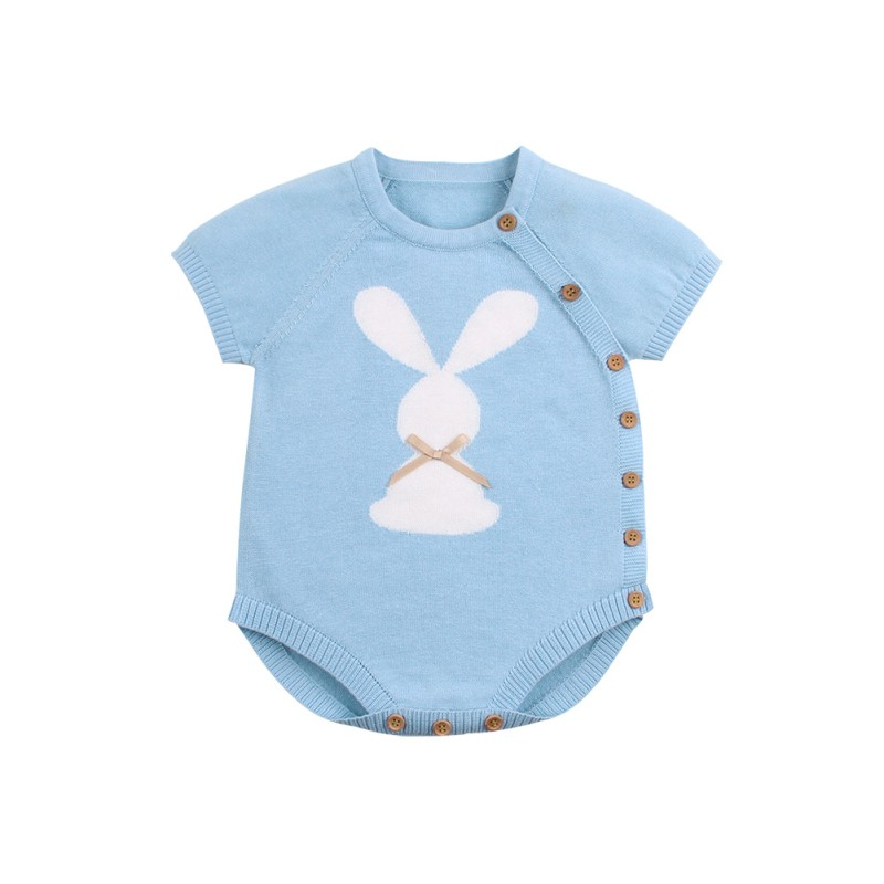 Infant Baby Girls Clothes Autumn Cartoon Print Short Sleeve Knit   Rompers   Kids Boys Jumpsuit   Rompers   for Babe Clothes