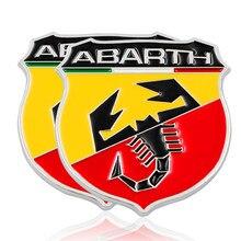 Adesivo emblema de escorpião, adesivo 3d metal itália, para fiat viagem abarth punto 124 125 500, decalque emblema, adesivo de carro forte