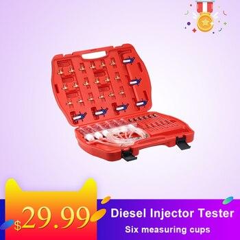 Diesel injector tester teste de fluxo de óleo bico do carro injector combustível medidor de teste adaptador conjunto comum ferroviário retorno de óleo fluxo ferramenta teste