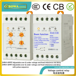 ZHRV1-09FRT voltage protector with 9 different types of functions, including load protection, reset, test, imbalance and others