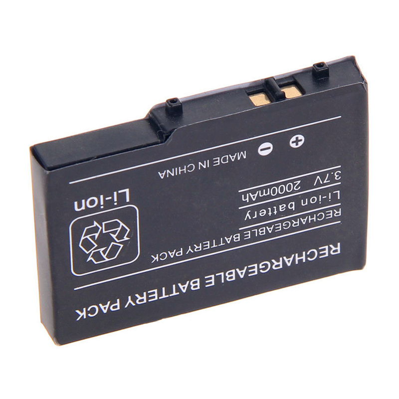 2PCS 2000mAh 3.7V Rechargeable Lithium-ion Battery + Tool Pack Kit for Nintendo DSL NDS Lite NDSL Battery Li-ion Batteries