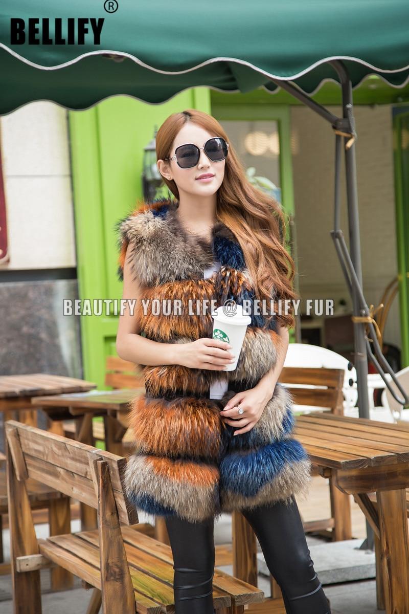 100/% Real Genuine Womens Fox Fur Vest Gilet Waistcoat Warm Christmas Coat Jacket
