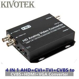 Image 1 - AHD+CVI+TVI+CVBS to CVBS+HDMI+VGA Adapter Converter,Loop Output 1080p Connector,V1.0/2.0,NTSC/PAL For TV Computer Free Shipping