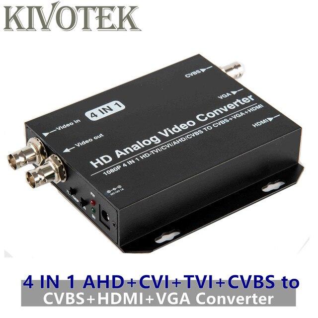 AHD+CVI+TVI+CVBS to CVBS+HDMI+VGA Adapter Converter,Loop Output 1080p Connector,V1.0/2.0,NTSC/PAL For TV Computer Free Shipping