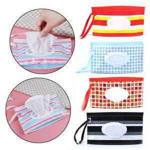 1pc Eco-friendly EVA Box High Quality Casual Striped Travel Clutch Pouch Holder Reusable