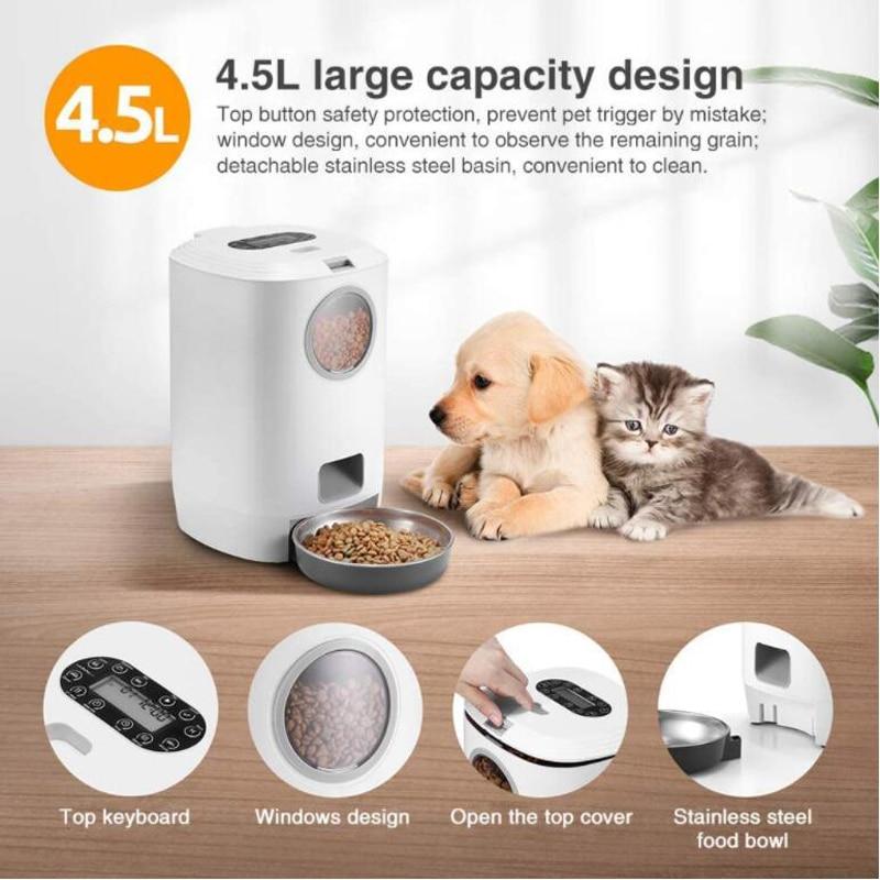 ZyKy alimentatore automatico per alimenti per animali domestici cane contenitore per alimenti per gatti alimentatore per animali alimentatore per alimenti per animali alimentatore per animali domestici intelligente alimentatore per cani forniture per prodotti 1
