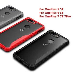 Oryginał do etui OnePlus 7 Pro etui wstrząsoodporne do One Plus 5 5T 6 6T 7 7T przezroczysta silikonowa obudowa do onrplus 7 pro.