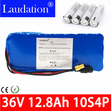 36v lithium battery 36V12.8Ah Electric Bicycle Battery Pack 18650 10S4P 500W High Power and Capacity Motorcycle Scooter with BMS 3s 80a 100a pcm pcb bms for 12v 18650 lithium battery pack for electric bicycle and scooter and tools back up solar energy