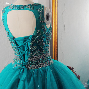 Image 5 - RSE921 Yiaibridal صور حقيقية الخامس الرقبة الكشكشة الأكمام بالإضافة إلى حجم فساتين أم العروس