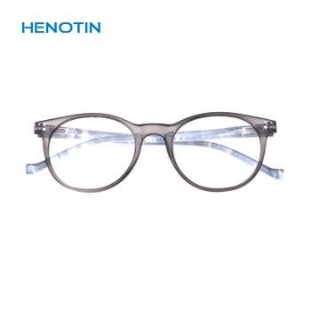 Barato gran valor gafas de lectura mujeres hombres primavera bisagra gafas +...