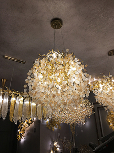 Image 5 - French crystal chandelier romantic golden living room dining room decoration lamp custom hotel project lighting