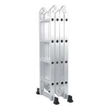 Scaffold Step-Ladder Supermarket Adjustable Aluminum-Alloy with 2-Iron-Panels Warehouse