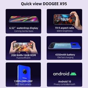 Image 3 - Doogee teléfono inteligente X95, teléfono móvil con pantalla de 6,52 pulgadas, Android 10, 4G LTE, cámara Triple de 13.0mp, 2GB RAM, 16GB ROM, procesador MTK6737, batería de 4350mAh
