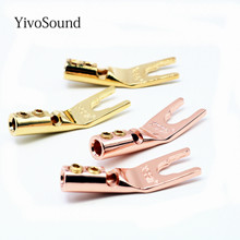 Yivosound Y 1 Type Y Type U HiFi Speaker connectors Banana Plugs pure copper amplifier Connectors Speaker connectors