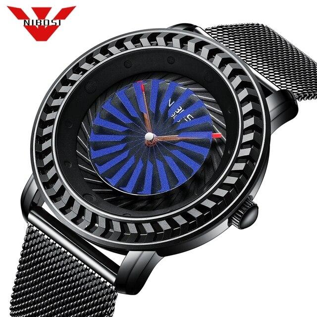 NIBOSI الفاخرة العلامة التجارية رجل الساعات الأزياء السببية ساعة كوارتز الرجال للماء العسكرية السويسري ووتش الرياضة ساعة Relogio Masculino