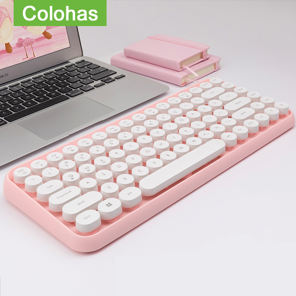 Wireless Bluetooth Keyboard Mini Round Button Gaming Keyboard For Macbook Lenovo Dell Asus Laptop iPad Tablet Computer Keypad(China)