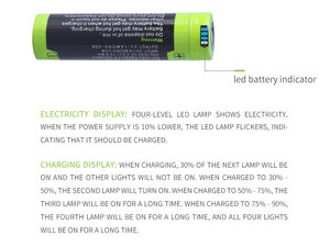 Image 3 - 노트북 배터리 5000M USB 18650 3.7V 3500mAh 리튬 이온 충전지 4 LED 표시기 전원 은행 배터리 모바일 충전 batte