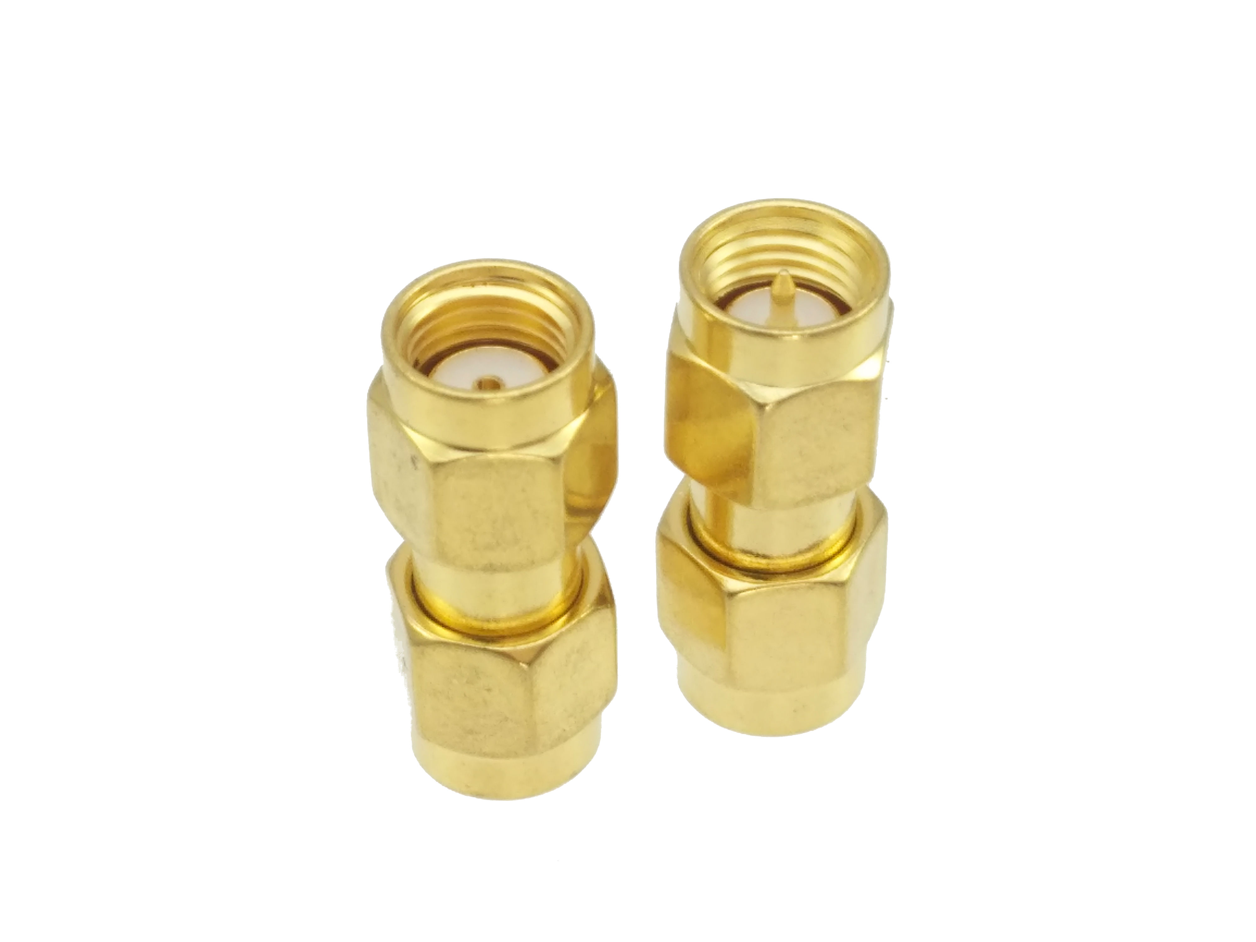 SMA Male Plug To RP-SMA Male Jack Center RF Coaxial Adapter Connector